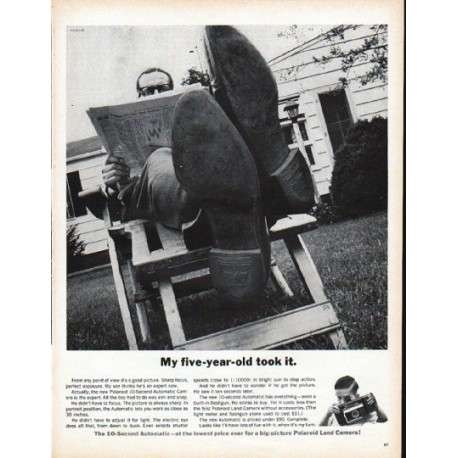 """1961 Polaroid Ad """"My five-year-old took it"""""""
