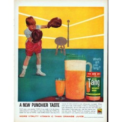 "1961 Tang Breakfast Drink Ad ""Punchier Taste"""