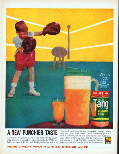 Tang breakfast drink vintage bottles