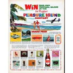 "1961 Dr Pepper Ad ""Pleasure Island Contest"""