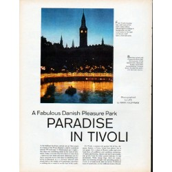 "1961 Paradise In Tivoli Article ""A Fabulous Danish Pleasure Park"""