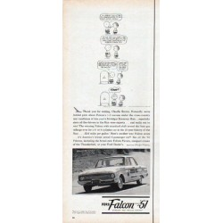 "1961 Ford Falcon Ad ""Thank you for writing, Charlie Brown"""