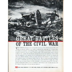 "1961 LIFE Civil War Booklet Ad ""Great Battles"" ... advertisement only"