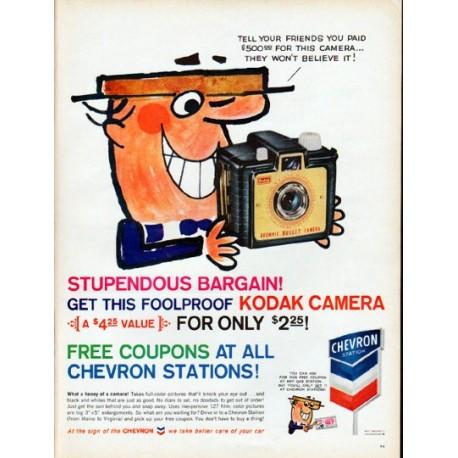 "1961 Chevron Ad ""Stupendous Bargain"""
