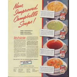 "1942 Campbell's Soup Ad ""Improved Recipe"""
