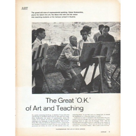 "1961 Oskar Kokoschka Article ""The Great 'O.K.' of Art and Teaching"""