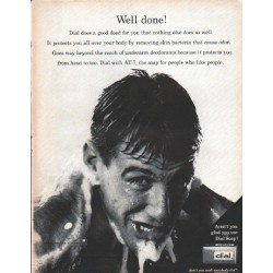 "1961 Dial Soap Ad ""Well done"""