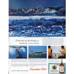 "1961 Canadian Club Whisky Ad ""A half mile out"""