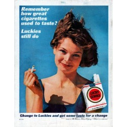 "1961 Lucky Strike Cigarettes Ad ""Remember how great"""