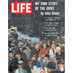 "1962 LIFE Magazine Cover Page ""John Glenn"""
