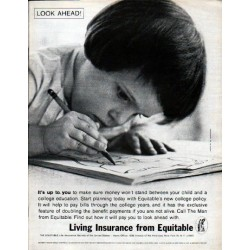 "1962 The Equitable Life Assurance Society Ad ""Look Ahead"""