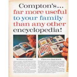 "1962 Compton's Encyclopedia Ad ""far more useful"""