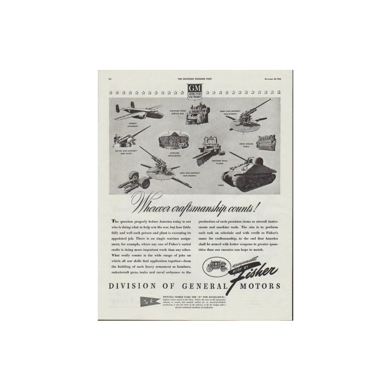 1942 fisher division of general motors ad wherever for General motors parts division
