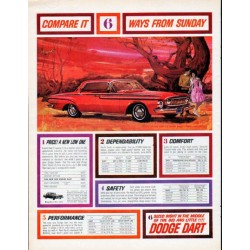 "1962 Dodge Dart Ad ""6 ways from Sunday"""