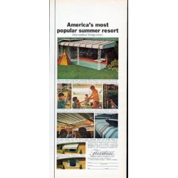 "1962 Flexalum Awning Ad ""most popular summer resort"""