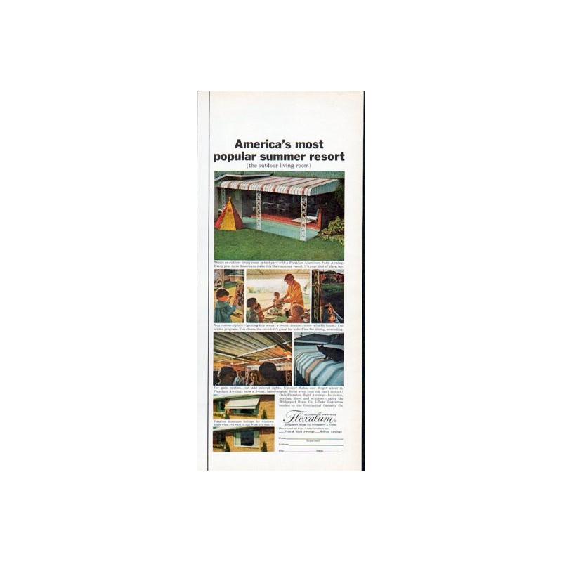 1962 Flexalum Awning Vintage Ad Quot Most Popular Summer Resort Quot