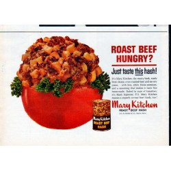 """1962 Mary Kitchen Ad """"Roast Beef Hungry"""""""
