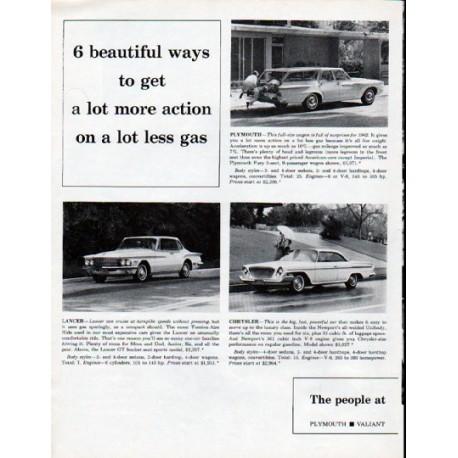 "1962 Chrysler Ad ""6 beautiful ways"""