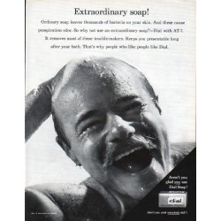 "1962 Dial Soap Ad ""Extraordinary Soap"""