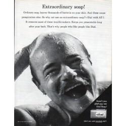 "1962 Dial Soap Ad ""Extraordinary Soap"""