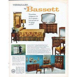 "1962 Bassett Furniture Ad ""Versailles"""