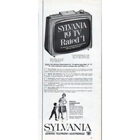 "1962 Sylvania TV Ad ""Model 19P11"""