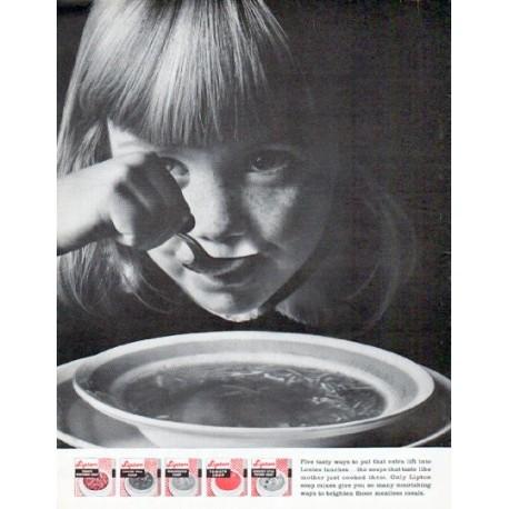 "1962 Lipton Soup Ad ""Five tasty ways"""