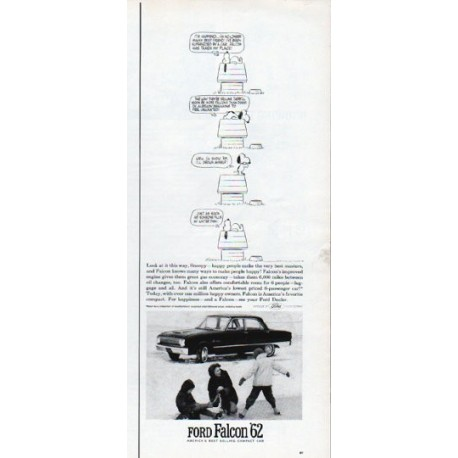 """1962 Ford Falcon Ad """"Look at it this way, Snoopy"""""""