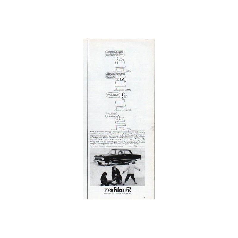 1962 ford falcon vintage ad  u0026quot look at it this way  snoopy u0026quot