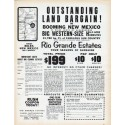 """1962 New Mexico Real Estate Ad """"Land Bargain"""""""