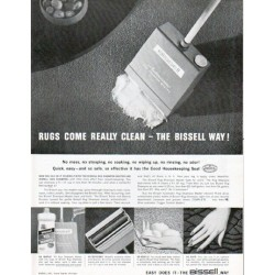"1962 Bissell Ad ""Rugs come really clean"""
