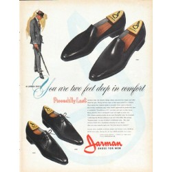 "1962 Jarman Shoes Ad ""two feet deep"""