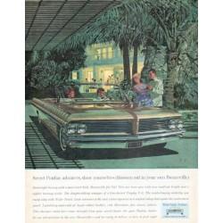 """1962 Pontiac Bonneville Ad """"Secret Pontiac admirers"""""""