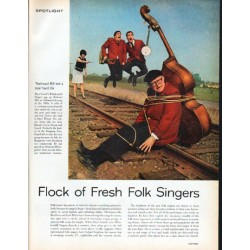 "1962 Folk Singers Article ""Flock of Fresh Folk Singers"""