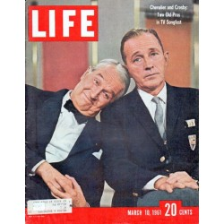"1961 LIFE Magazine Cover Page ""Chevalier and Crosby"""