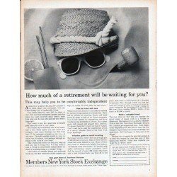 "1961 Members New York Stock Exchange Ad ""retirement"""