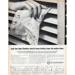 "1961 Edison Electric Institute Ad ""Look how clean"""