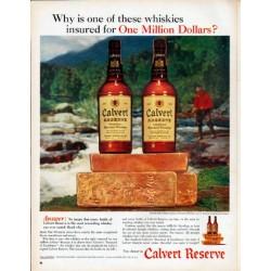 """1961 Calvert Whiskey Ad """"One Million Dollars"""""""