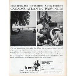 "1961 Canadian Government Travel Bureau Ad ""Come north"""