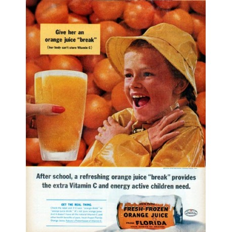 "1961 Florida Citrus Commission Ad ""After school"""
