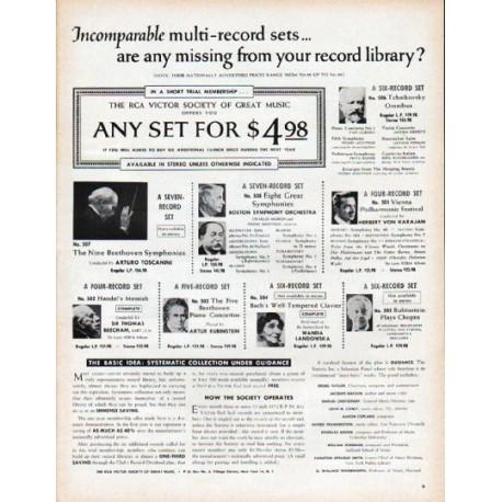 """1961 RCA Victor Ad """"multi-record sets"""""""