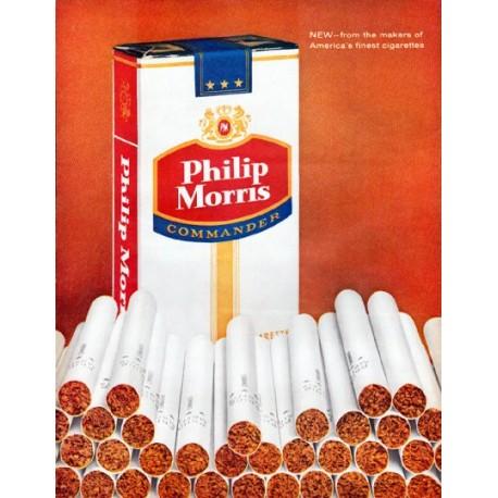 """1961 Philip Morris Cigarettes Ad """"Vacuum-cleaned"""""""