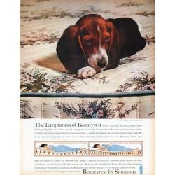 "1961 Simmons Beautyrest Ad ""The Temptation"""