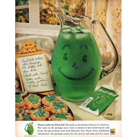 """1961 Kool-Aid Ad """"Aunt Kate called"""""""