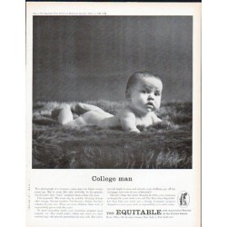"1961 The Equitable Life Assurance Society Ad ""College Man"""