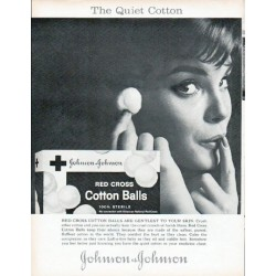 "1961 Johnson & Johnson Ad ""The Quiet Cotton"""
