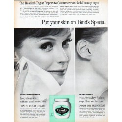 "1961 Pond's Skin Cream Ad ""Special Formula Care"""