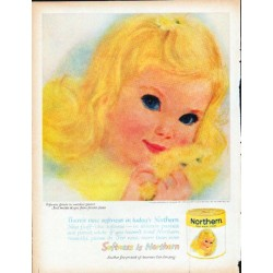 "1961 Northern Tissue Ad ""Softness grows"""