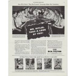 "1942 RCA Victor Ad ""Mr. Hitler"""