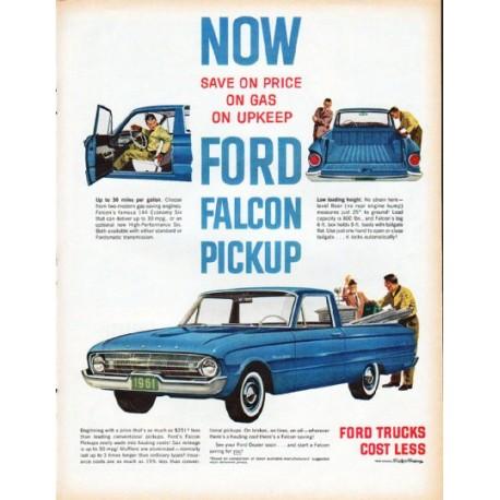 """1961 Ford Falcon Ad """"Ford Falcon Pickup"""""""